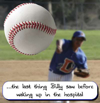 Billy and the baseball