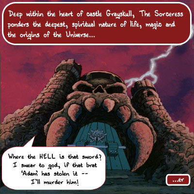 Caption Fun Comic Friday August 14th:Castle Grayskull