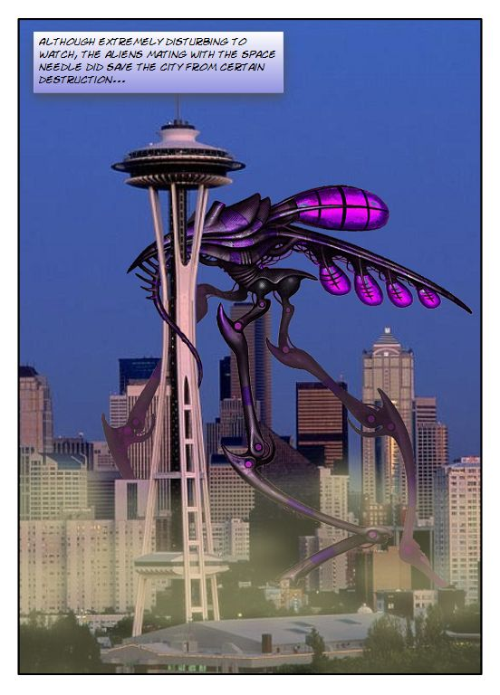 Caption Fun Comic-Aliens in Seattle