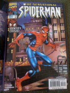 Flip the book open and you have the 'normal' Spidey cover