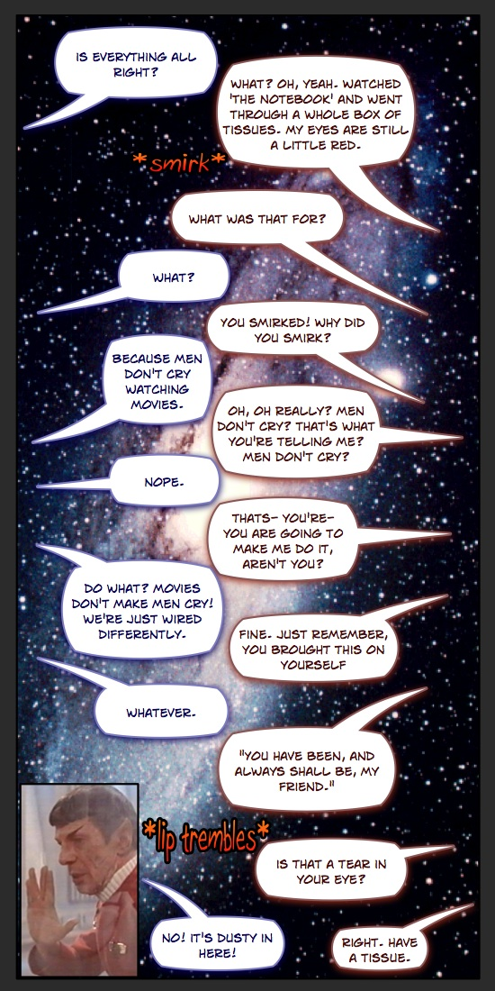 Caption Fun Comic-Men Don't Cry