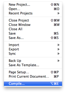 Scrivener Quick Tip: Compile for Submission or Printing