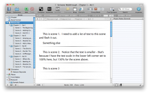 Scrivener Quick Tip: Titles in Scrivenings