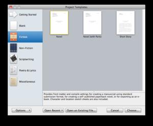 New Scrivener Project