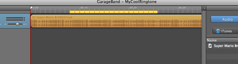 Tip: How to make a Ringtone for your iPhone using Garageband