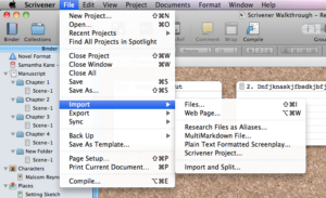 Scrivener Quick Tip: Import Web Page