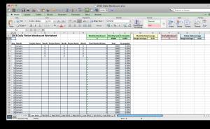 Daily Wordcount Worksheet screenshot 1