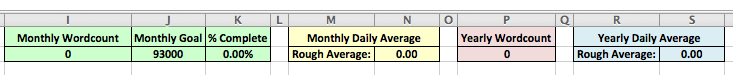 Worksheet average totals