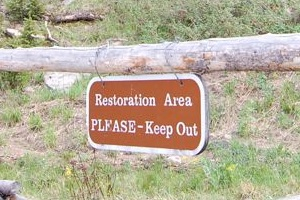 Sign: Reclamation Area PLEASE KEEP OUT
