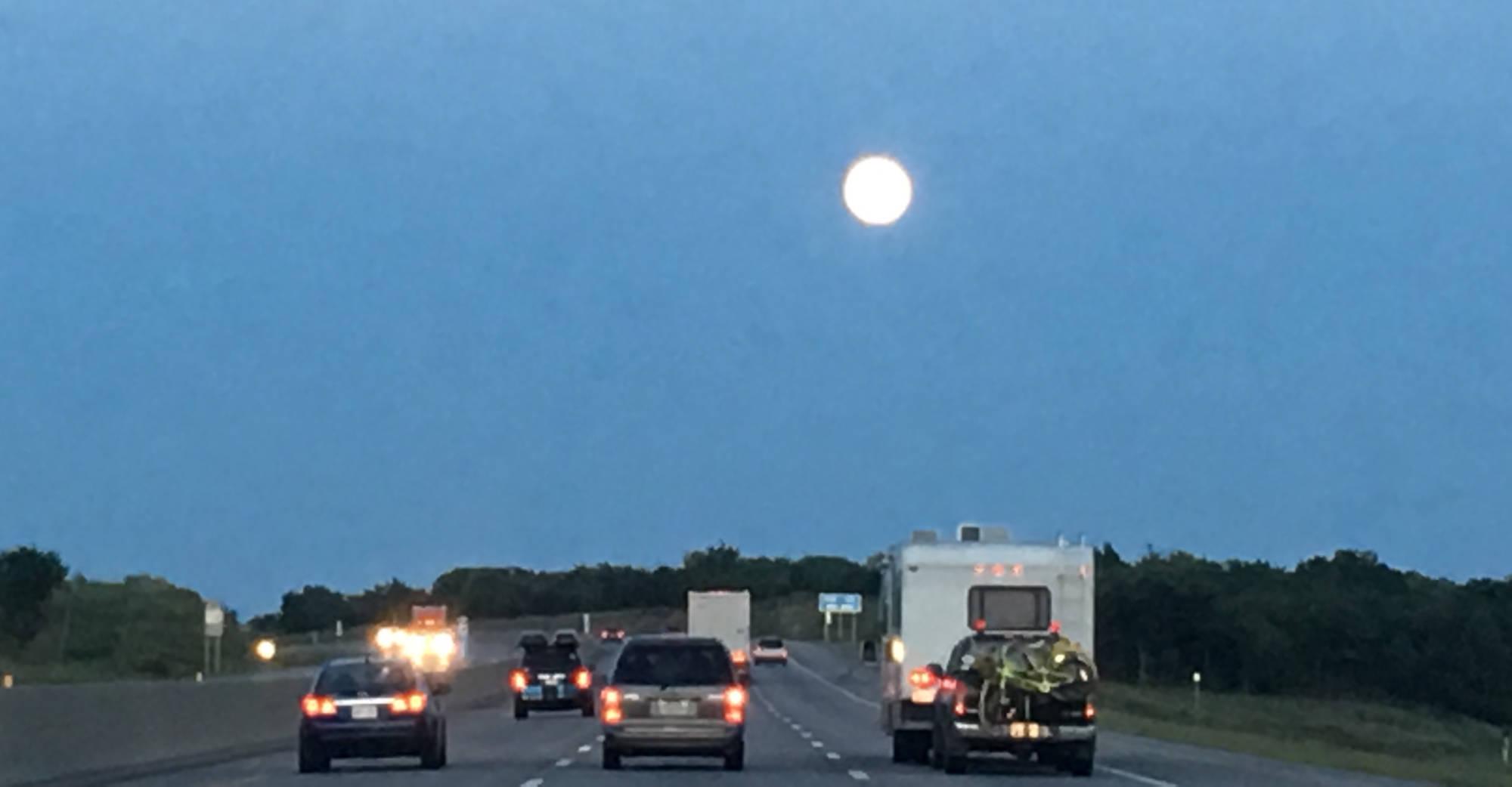 Moon over I70