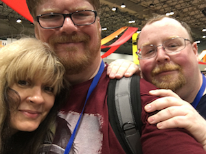 Stina Leicht, Gareth Kavenaugh & Patrick Hester at MidAmericon 2 - the 2016 WorldCon