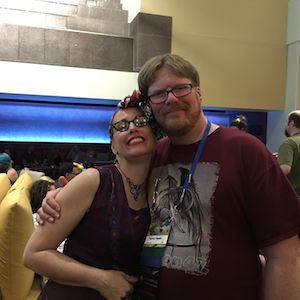 Gail Carriger & Patrick Hester at MidAmericon 2 - the 2016 WorldCon in Kansas City