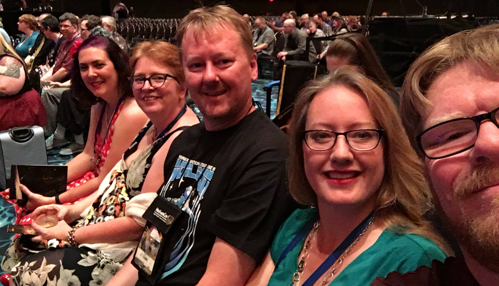 Shannon Lawrence, MB Partlow, JT Evans, Tamsyn Coulon & Patrick Hester at the Hugo Awards - MidAmericon 2 - the 2016 WorldCon in Kansas City