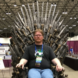 Patrick Hester on the Iron Throne