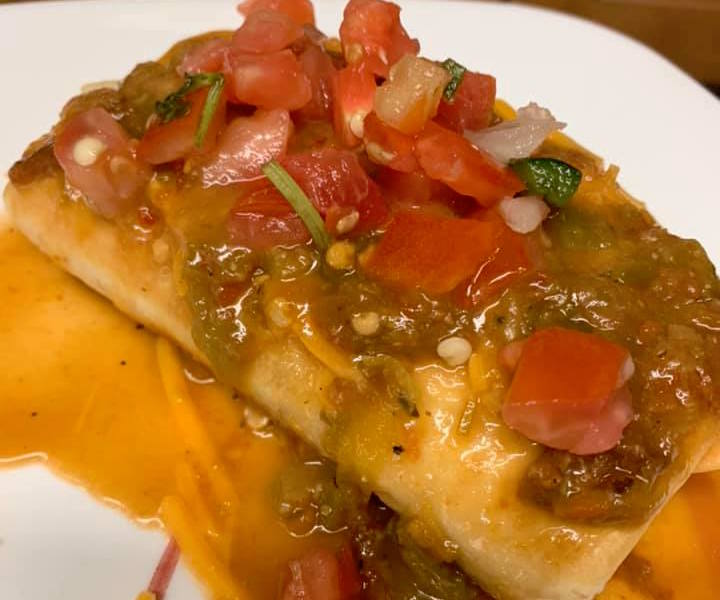 Homemade chimichanga